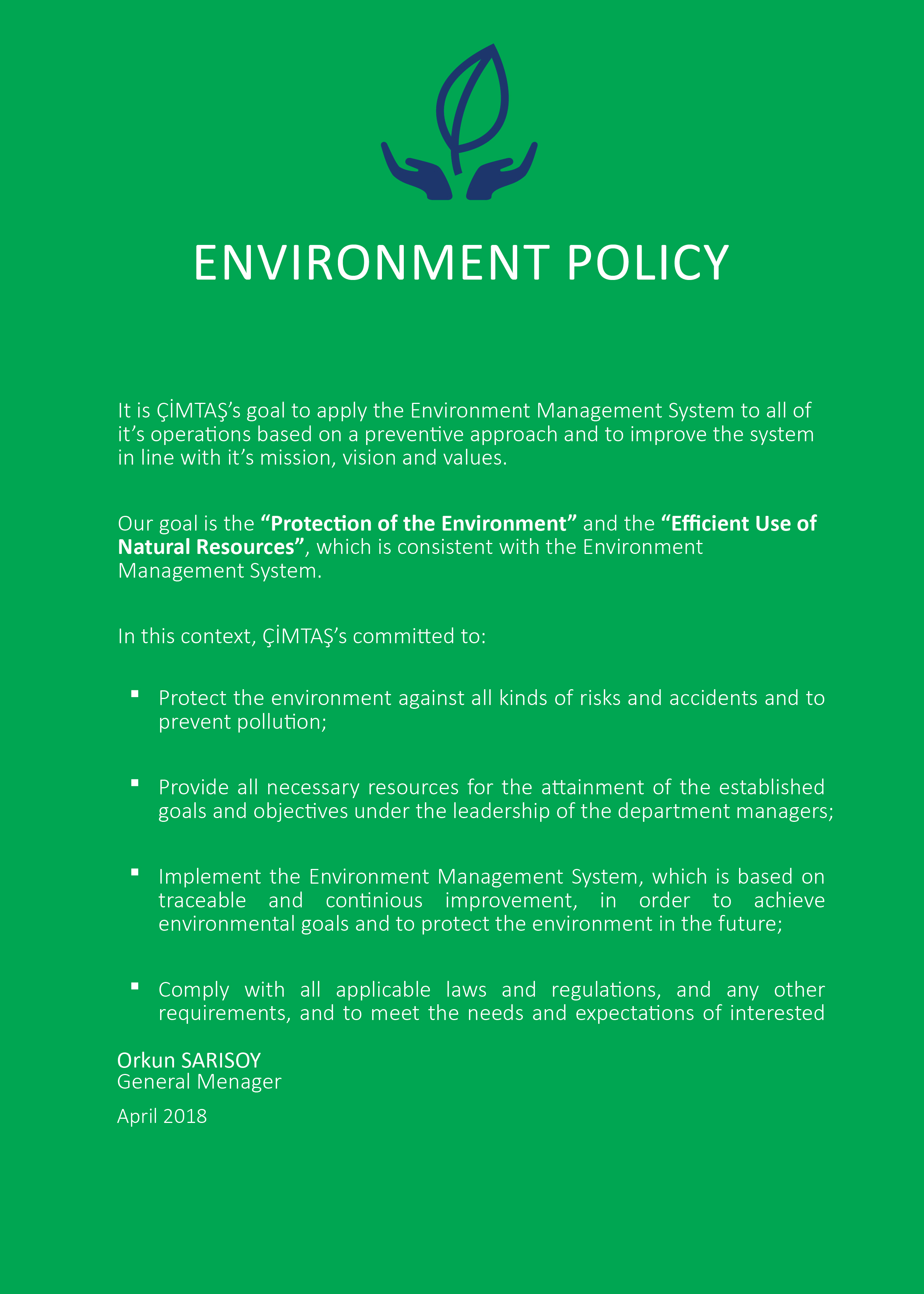 199 Imtaş Health Amp Safety Environmental Energy Policies