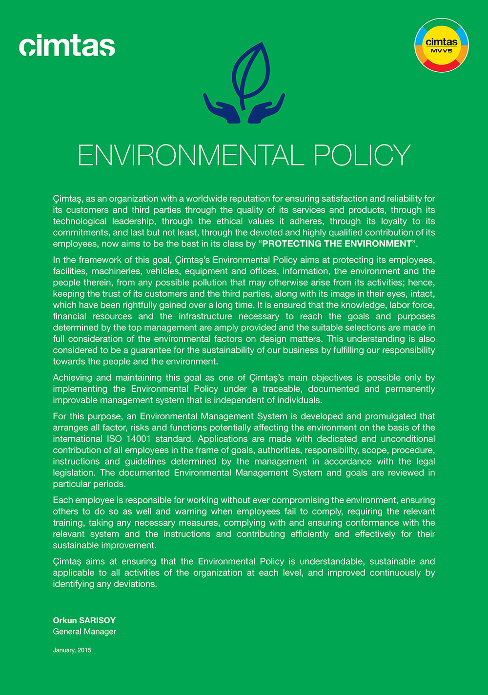 199 Imtaş Health Amp Safety Environmental Energy Policies